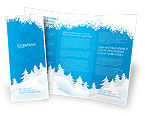 Holiday/Special Occasion: Forest Snow Brochure Template #02888