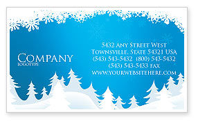 Forest Snow Business Card Template, 02888, Holiday/Special Occasion — PoweredTemplate.com