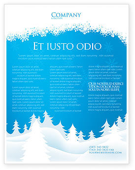 Forest Snow Flyer Template Background In Microsoft Word Publisher - Christmas flyer templates microsoft publisher