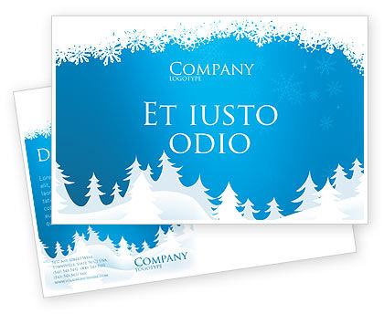 Holiday/Special Occasion: Modello Cartolina - Neve foresta #02888