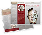 Medical: Skull As Anatomy Tutorial Brochure Template #02889