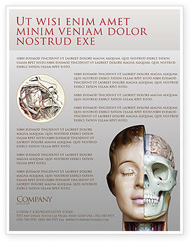 Medical: Skull As Anatomy Tutorial Flyer Template #02889