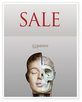 Skull As Anatomy Tutorial Sale Poster Template