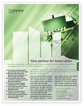 financial brochure templates - mortgage on the house flyer template background in