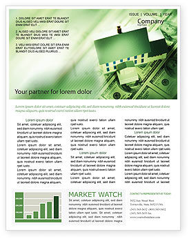 Financial/Accounting: Mortgage On The House Newsletter Template #02891