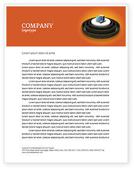 Technology, Science & Computers: Computer Firewall Letterhead Template #02893