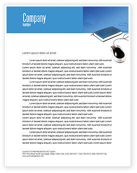 Internet Libraries Letterhead Template, 02894, Education & Training — PoweredTemplate.com
