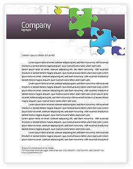 Business Concepts: Fancy Jigsaw Letterhead Template #02895