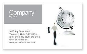 Business: World Time Business Card Template #02898