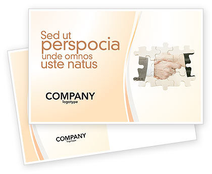 Business: Partnership Postcard Template #02899