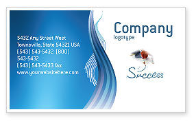 Consulting: Women's Success Business Card Template #02900