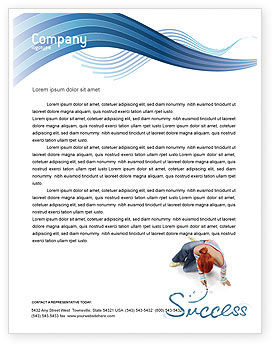 Women's Success Letterhead Template, 02900, Consulting — PoweredTemplate.com