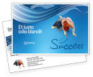 Consulting: Women's Success Postcard Template #02900