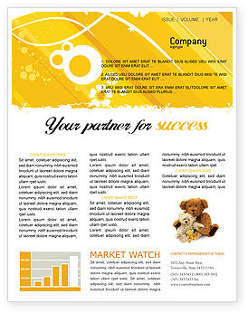 Teddy Bear Newsletter Template, 02901, Holiday/Special Occasion — PoweredTemplate.com