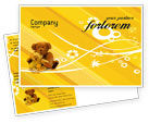 Holiday/Special Occasion: Teddy Bear Postcard Template #02901