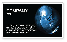 Embryo Business Card Template, 02903, Medical — PoweredTemplate.com
