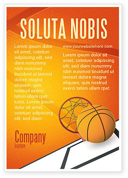 Sports: Basketball Ad Template #02904