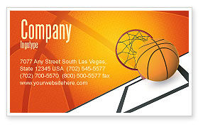 Sports: Basketball Business Card Template #02904