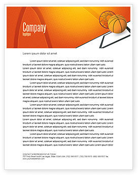 Sports: Basketball Letterhead Template #02904