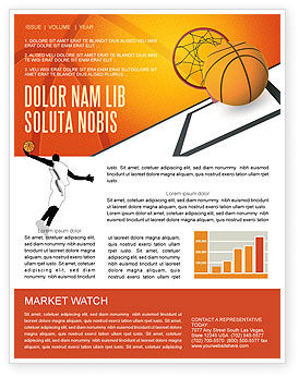 Basketball Newsletter Template, 02904, Sports — PoweredTemplate.com