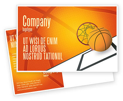 Basketball Postcard Template, 02904, Sports — PoweredTemplate.com