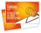 Sports: Basketball Postcard Template #02904