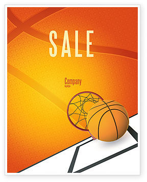 Sports: Basketball Sale Poster Template #02904