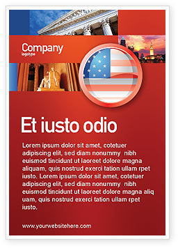 Flags/International: US Flag Ad Template #02905