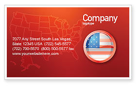 Flags/International: US Flag Business Card Template #02905