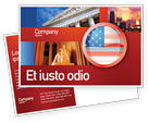 Flags/International: US Flag Postcard Template #02905