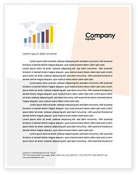 Financial/Accounting: Dark Blue Diagram Letterhead Template #02906
