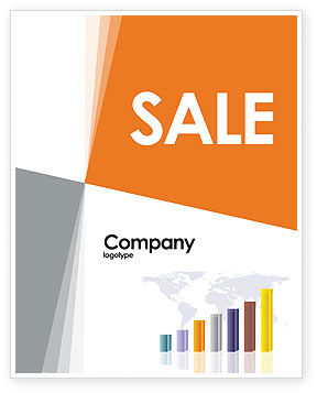 Financial/Accounting: Dark Blue Diagram Sale Poster Template #02906