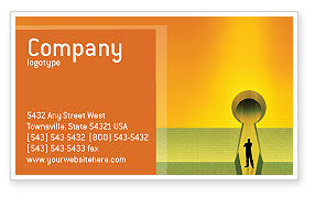 Business Concepts: Digital Fortress Business Card Template #02910