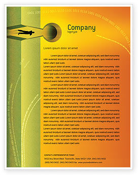 Business Concepts: Digital Fortress Letterhead Template #02910