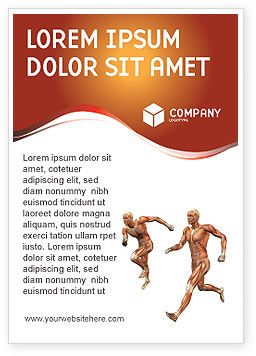 Muscular System Ad Template, 02911, Medical — PoweredTemplate.com