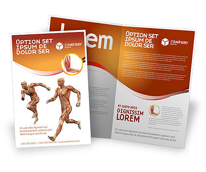 Medical: Muscular System Brochure Template #02911