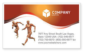 Muscular System Business Card Template, 02911, Medical — PoweredTemplate.com