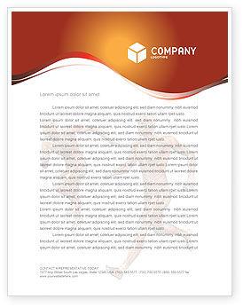 Muscular System Letterhead Template, 02911, Medical — PoweredTemplate.com