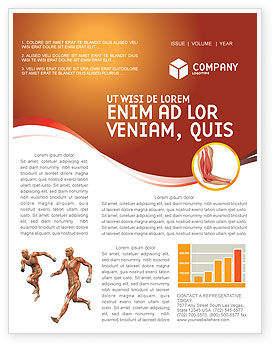 Medical: Muscular System Newsletter Template #02911