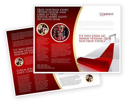 Consulting: Red Carpet Brochure Template #02912