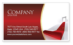 Consulting: Red Carpet Business Card Template #02912
