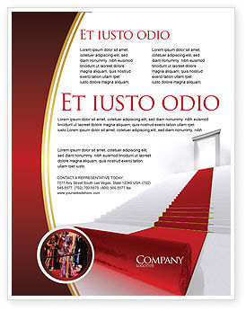 Red Carpet Flyer Template, 02912, Consulting — PoweredTemplate.com