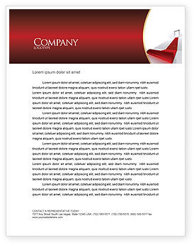 Red Carpet Letterhead Template, 02912, Consulting — PoweredTemplate.com