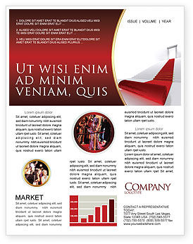 Red Carpet Newsletter Template, 02912, Consulting — PoweredTemplate.com