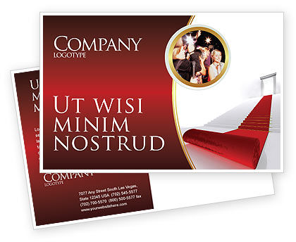 Consulting: Red Carpet Postcard Template #02912