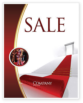 Red Carpet Sale Poster Template