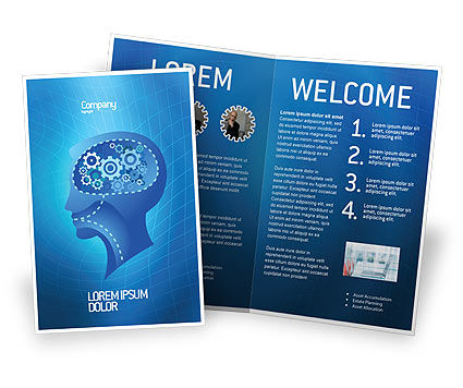Mentality Brochure Template, 02913, Technology, Science & Computers — PoweredTemplate.com