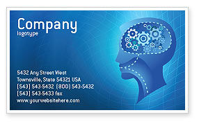 Technology, Science & Computers: Mentality Business Card Template #02913
