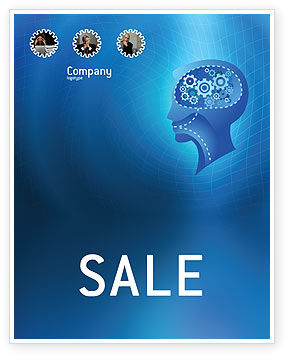 Mentality Sale Poster Template, 02913, Technology, Science & Computers — PoweredTemplate.com