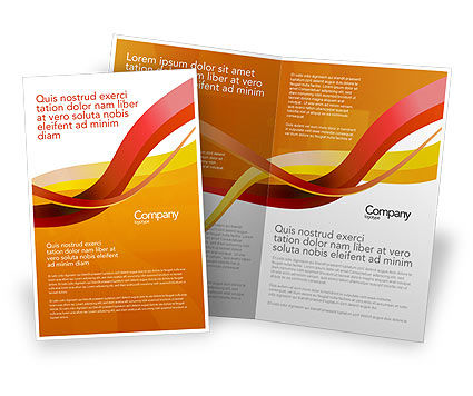 Abstract/Textures: Yellow Waves Brochure Template #02914